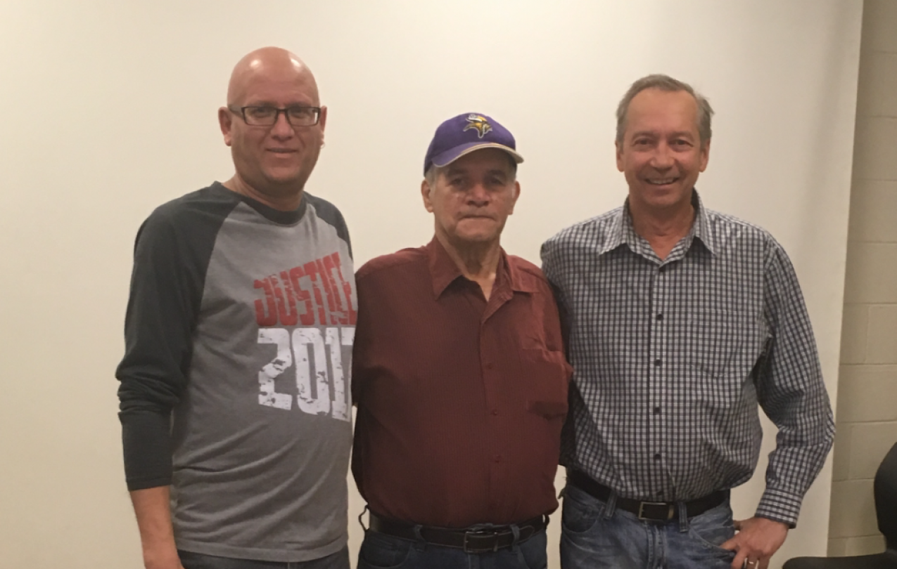 Gord Medwid, USW 6166 VP, Fred Houston, Warren Brass, Mines/Mill GM