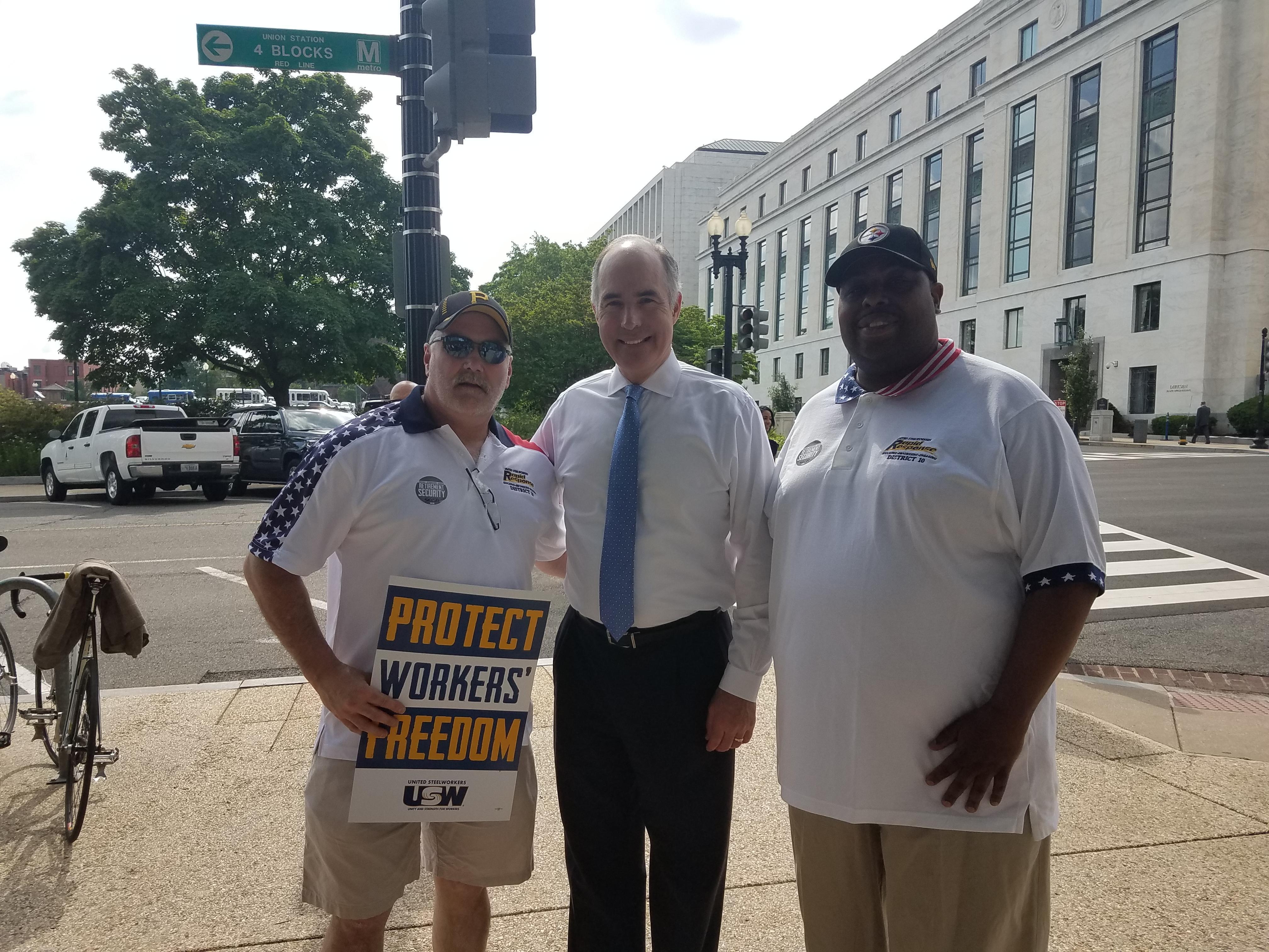 Don Jackson, Senator Casey, Derick Gee