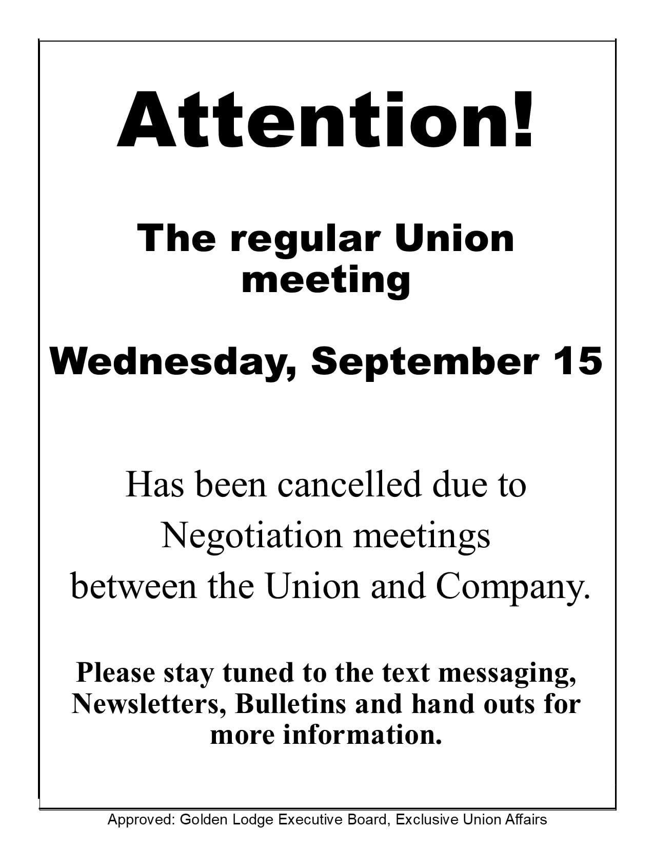 Union Meeting Notice