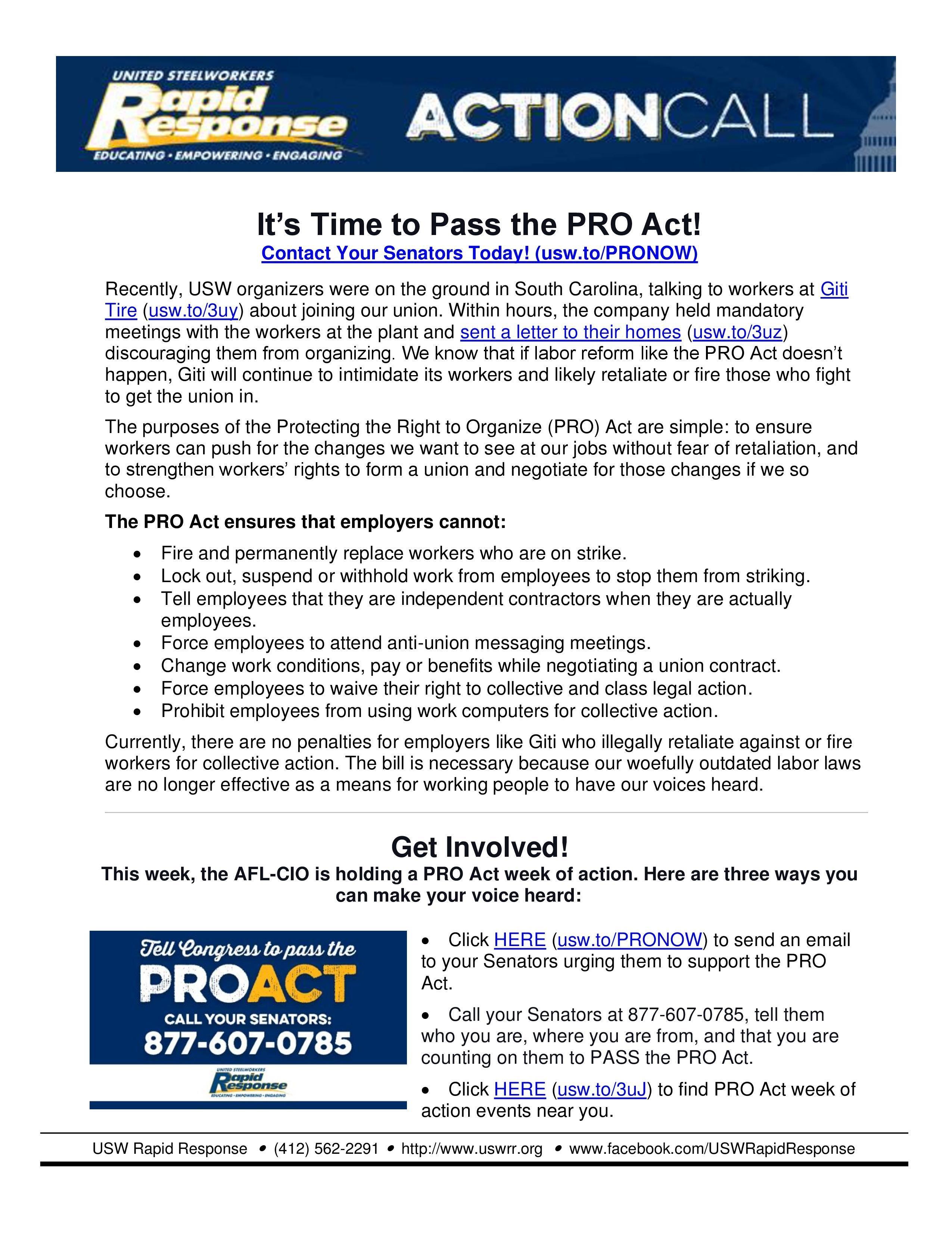 PRO Act 2021