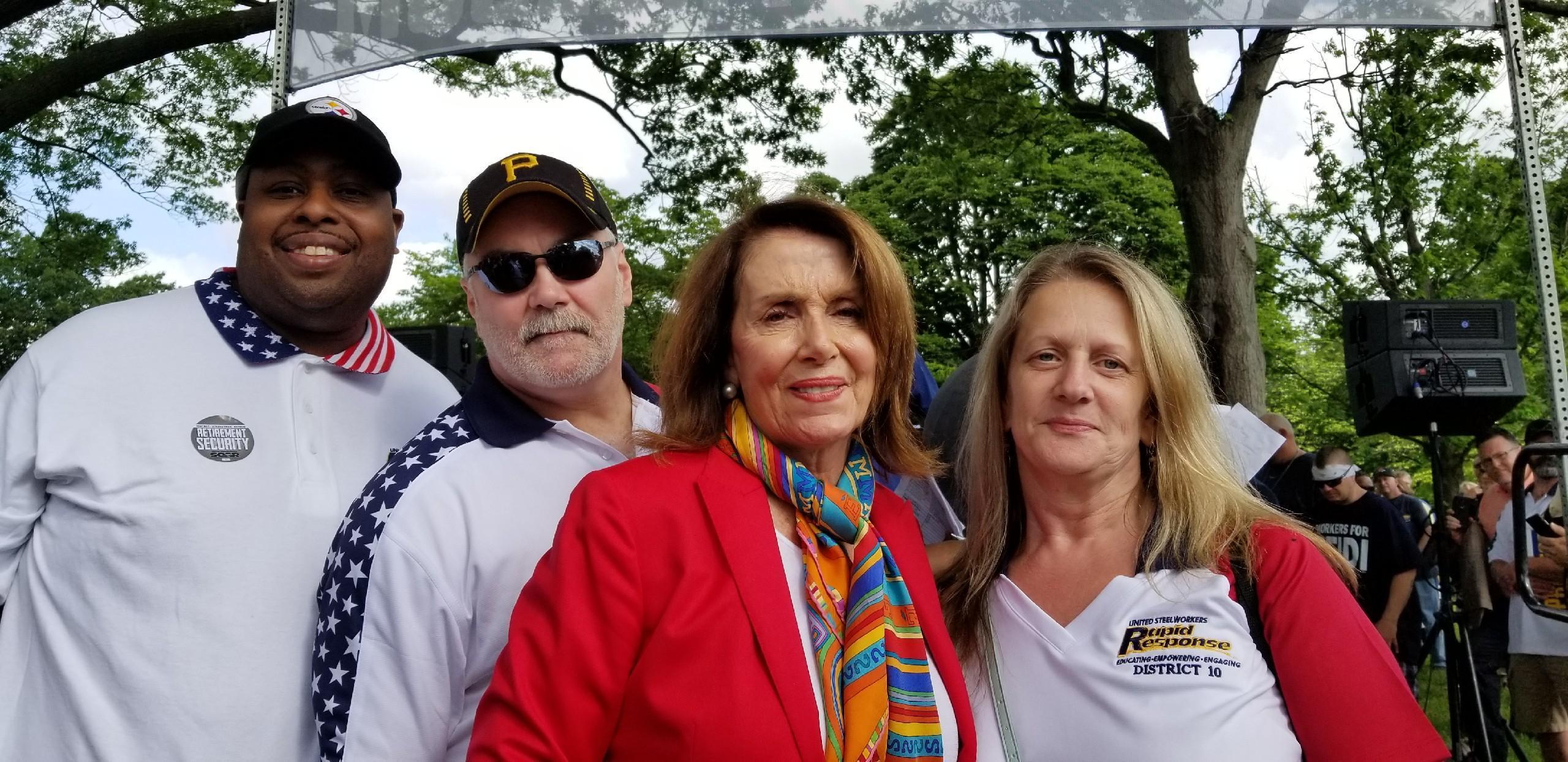 Derick Gee, Don Jackson, Speaker of the House Of Representatives Nancy Pelosi, Keli Vereb