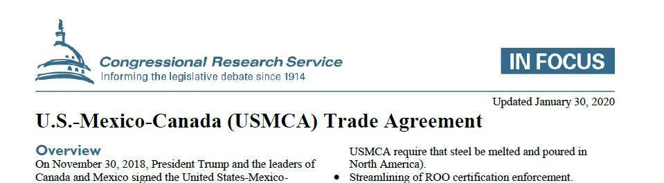 USMCA DETAILS
