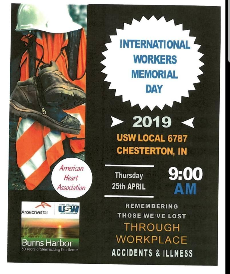 International Workers Memorial Day Usw Local 6787